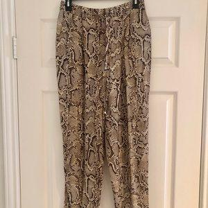 Zara snakeskin pants